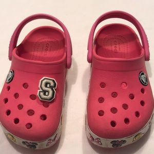 Crocs Sz 8 Toddlers Minnie Clogs
